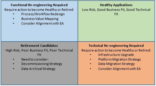 Application Portfolio Optimization Grid